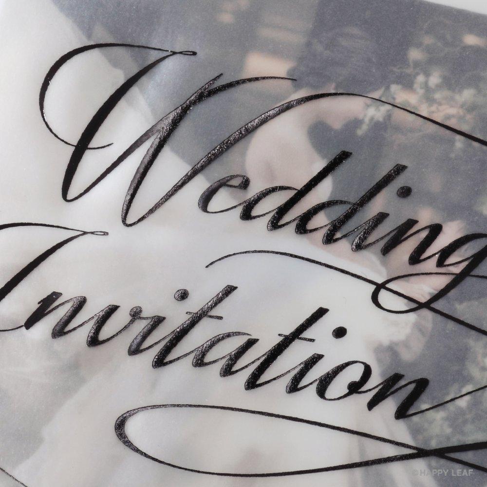 結婚式 招待状 Felice ブラック 3