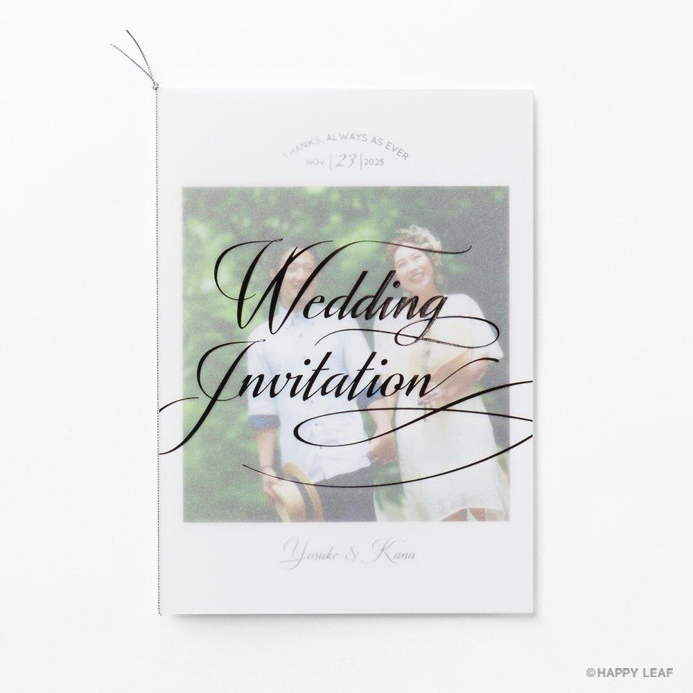 結婚式 招待状 Felice ブラック 6