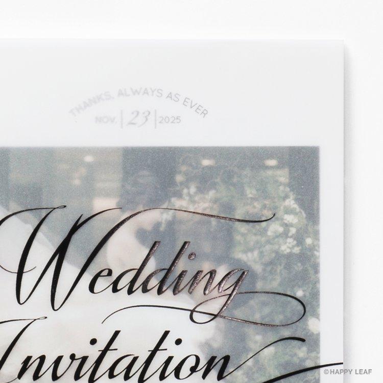 結婚式 招待状 Felice ブラック イメージ