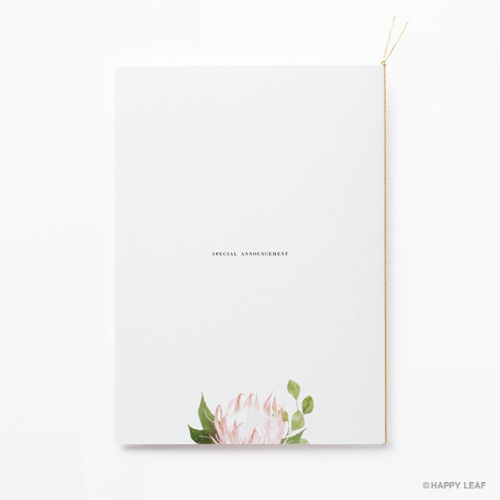 結婚式 招待状 Protea 3