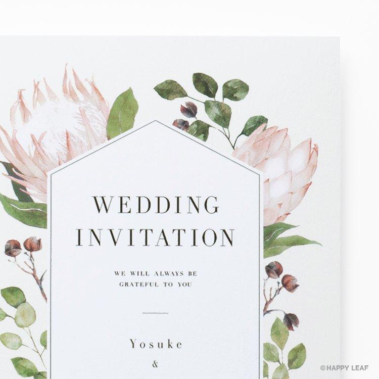 結婚式 招待状 Protea イメージ