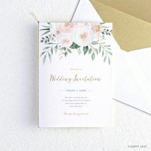 結婚式 招待状 Blanc