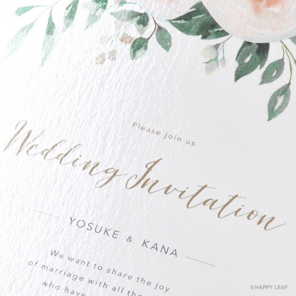 結婚式 招待状 Blanc 2