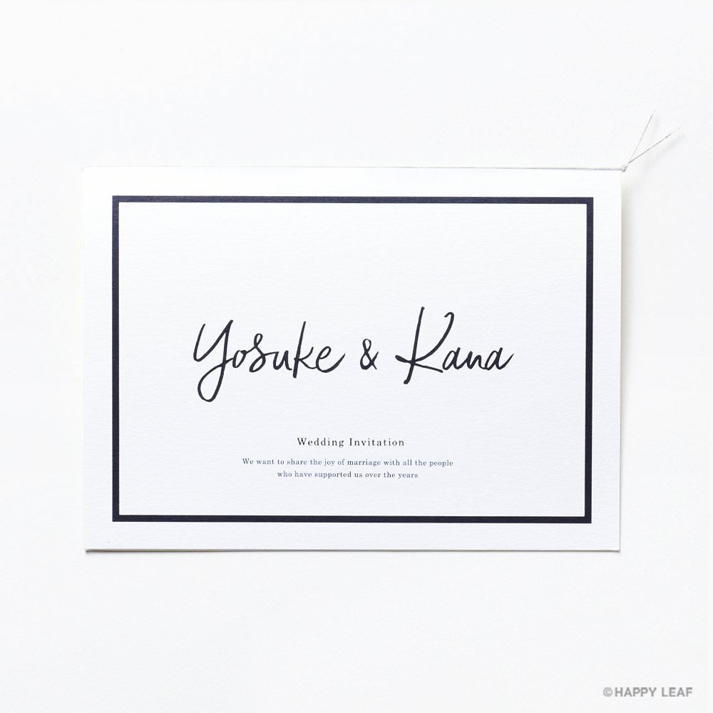 結婚式 招待状 Glassy ホワイト 1