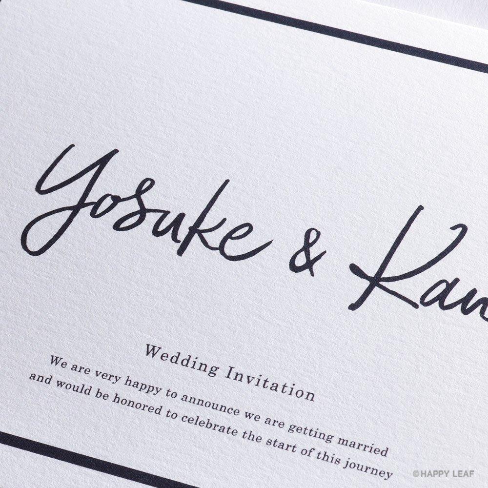 結婚式 招待状 Glassy ホワイト 2