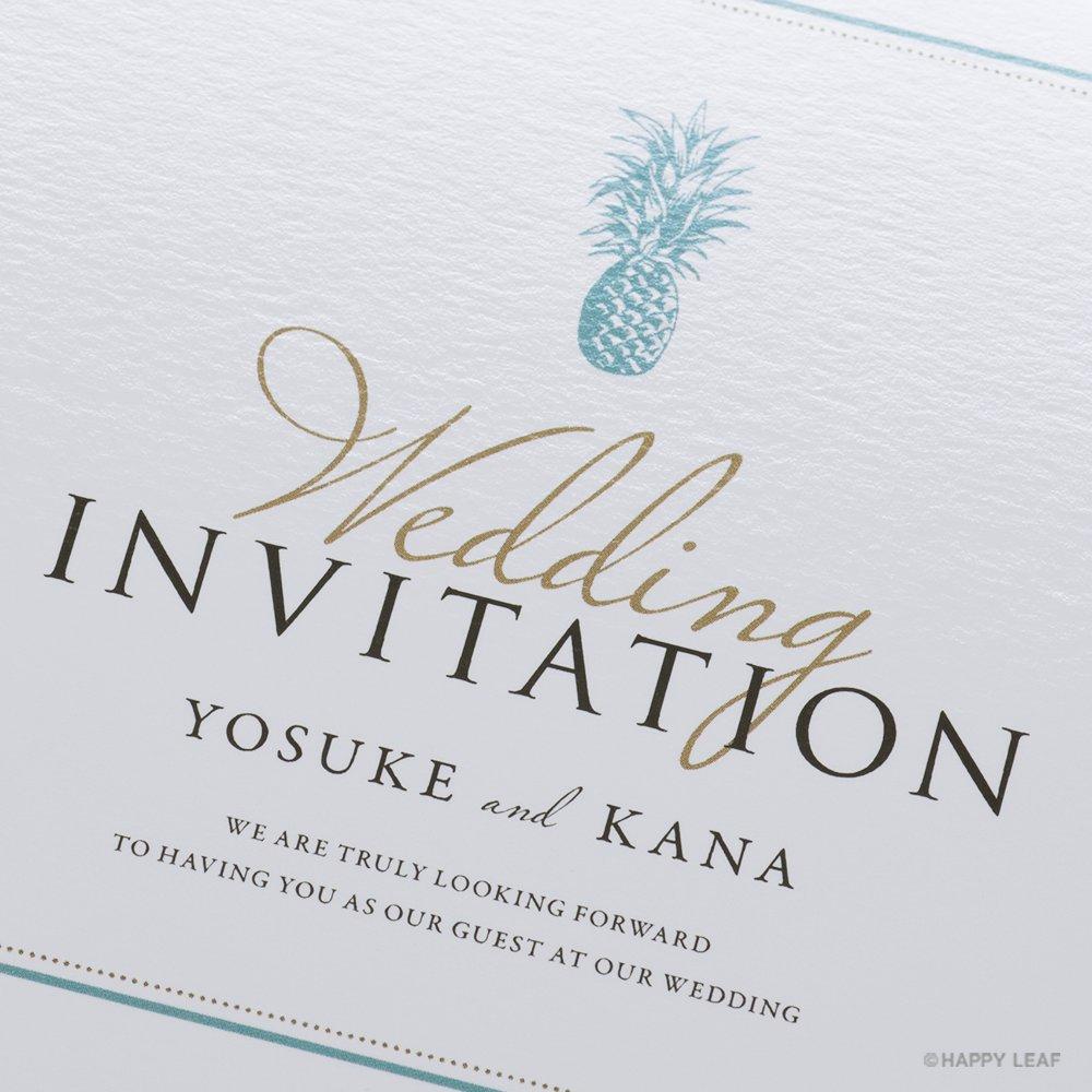結婚式 招待状 Laulea Aqua 2