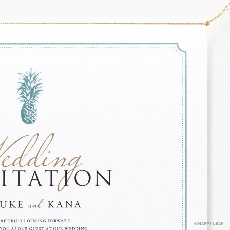 結婚式 招待状 Laulea Aqua イメージ