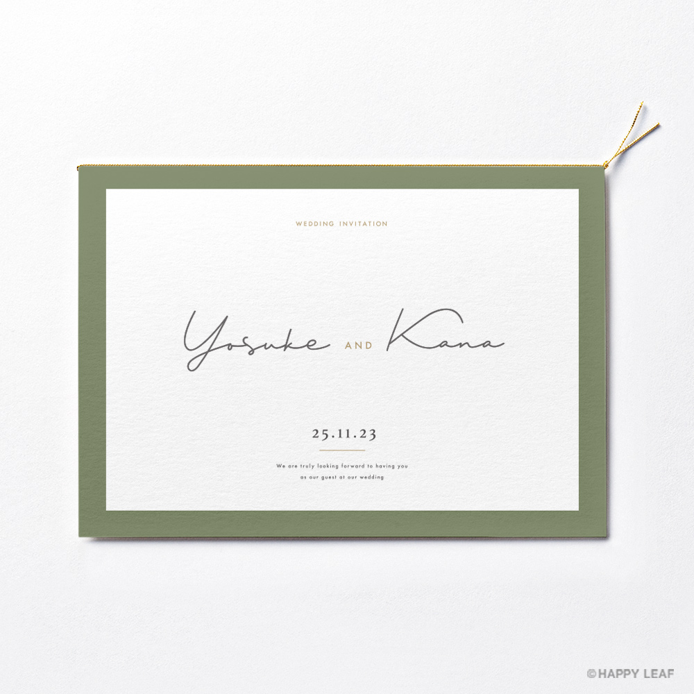 結婚式 招待状 Calme グリーン 2