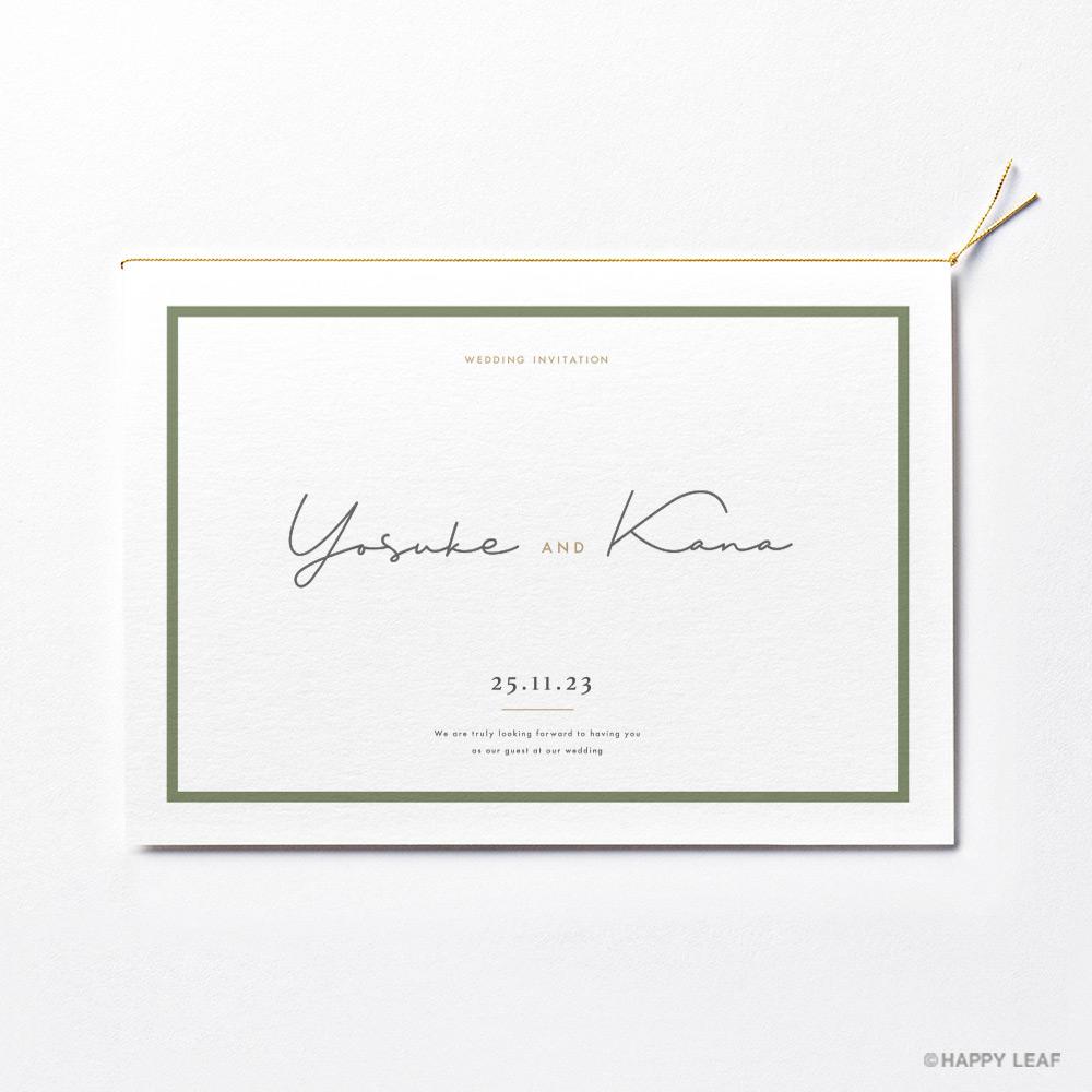 結婚式 招待状 Calme ホワイト 2