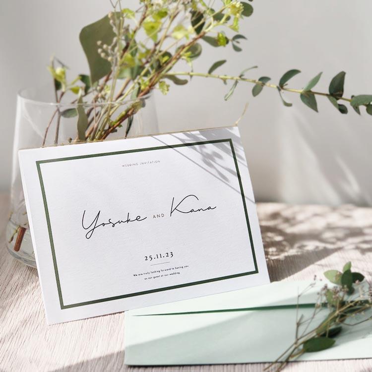 結婚式 招待状 Calme ホワイト イメージ