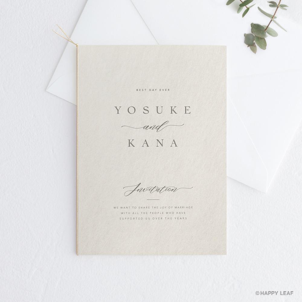 結婚式 招待状 soie ホワイト