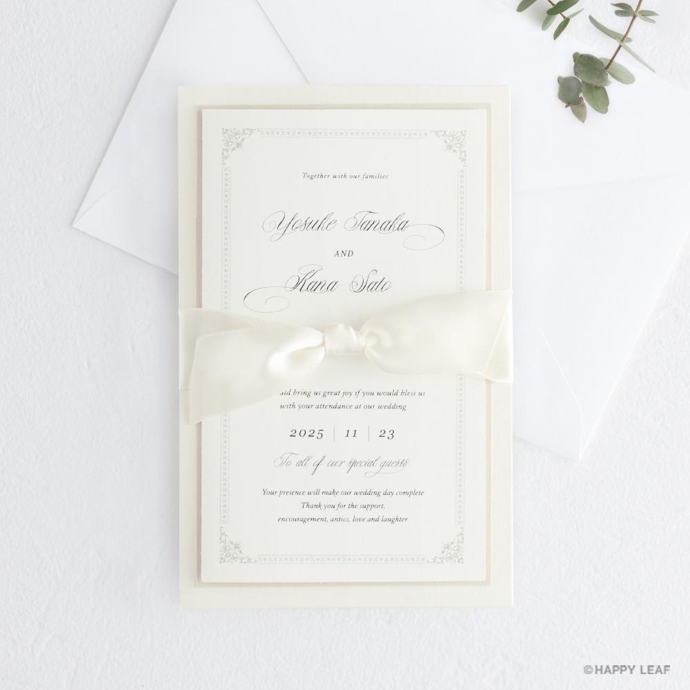 結婚式 招待状 Chateau パール