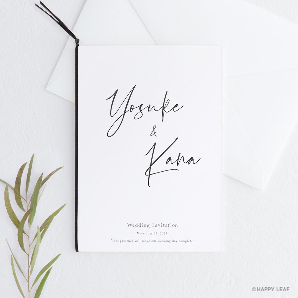 結婚式 招待状 Noir
