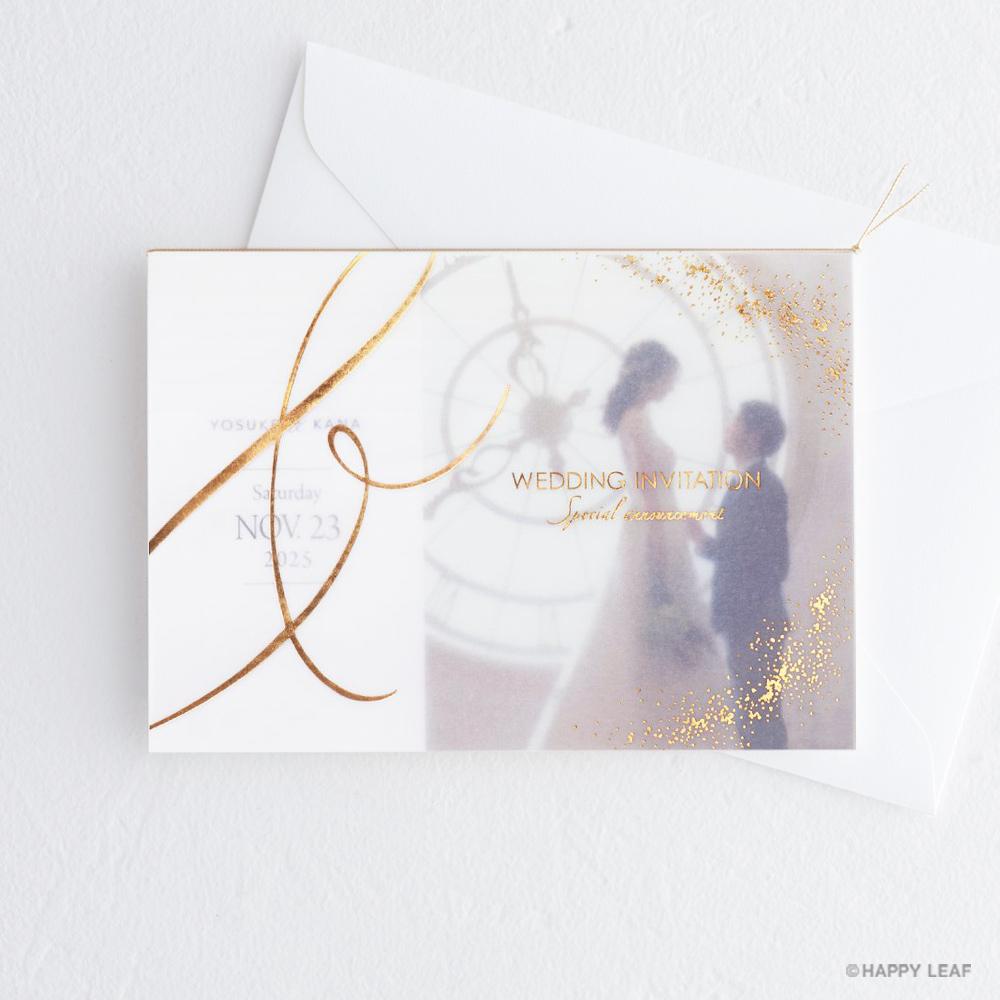 結婚式 招待状 Toujours ゴールド
