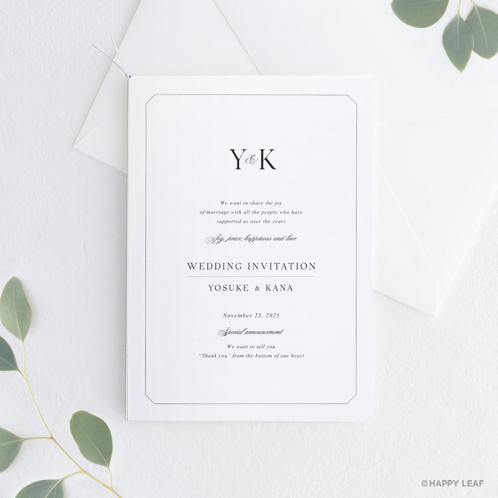 結婚式 招待状 Sylph ホワイト