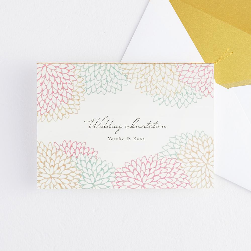 結婚式 招待状 Dahlia ピンク