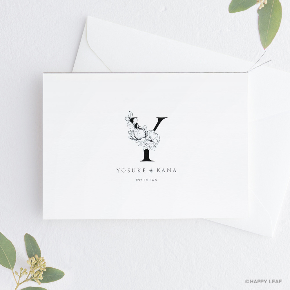 結婚式 招待状 Bonheur スノー