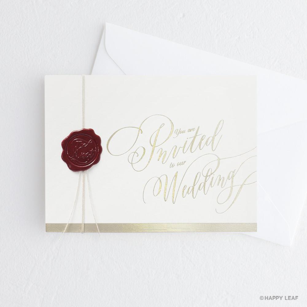 結婚式 招待状 Vino rosso