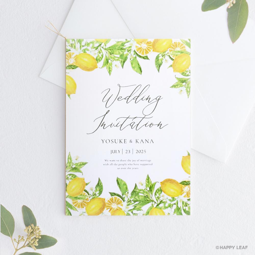 結婚式 招待状 Lemon