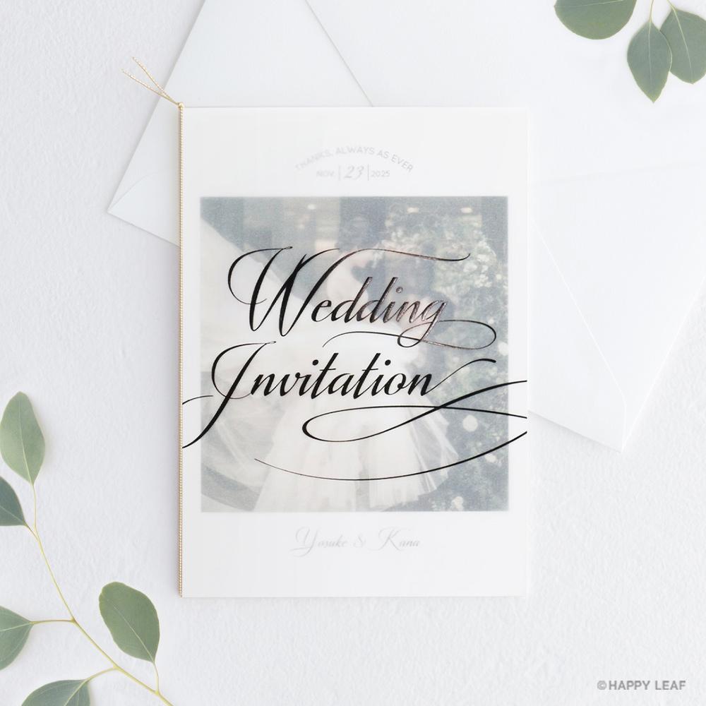 結婚式 招待状 Felice ブラック
