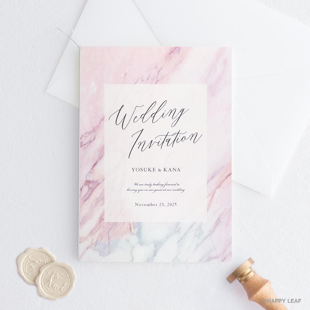 結婚式 招待状 MARBLE Ruby