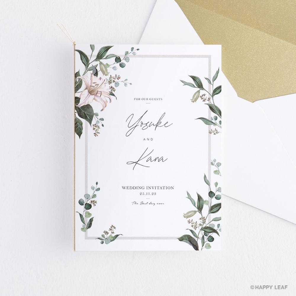 結婚式 招待状 grisvert ホワイト