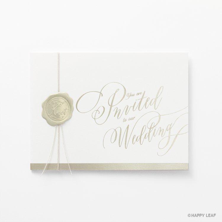 結婚式 招待状 Vino champagne