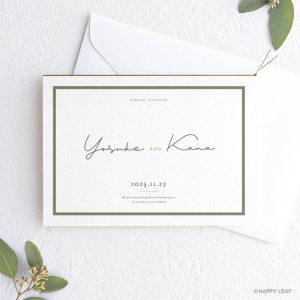 結婚式 招待状 Calme ホワイト