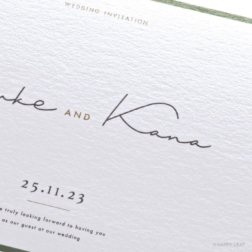 結婚式 招待状 Calme ホワイト 3
