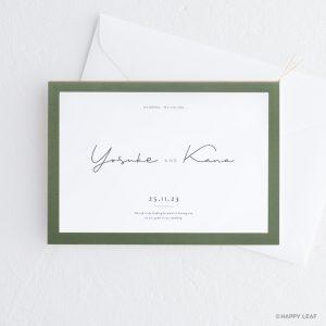 結婚式 招待状 Calme グリーン