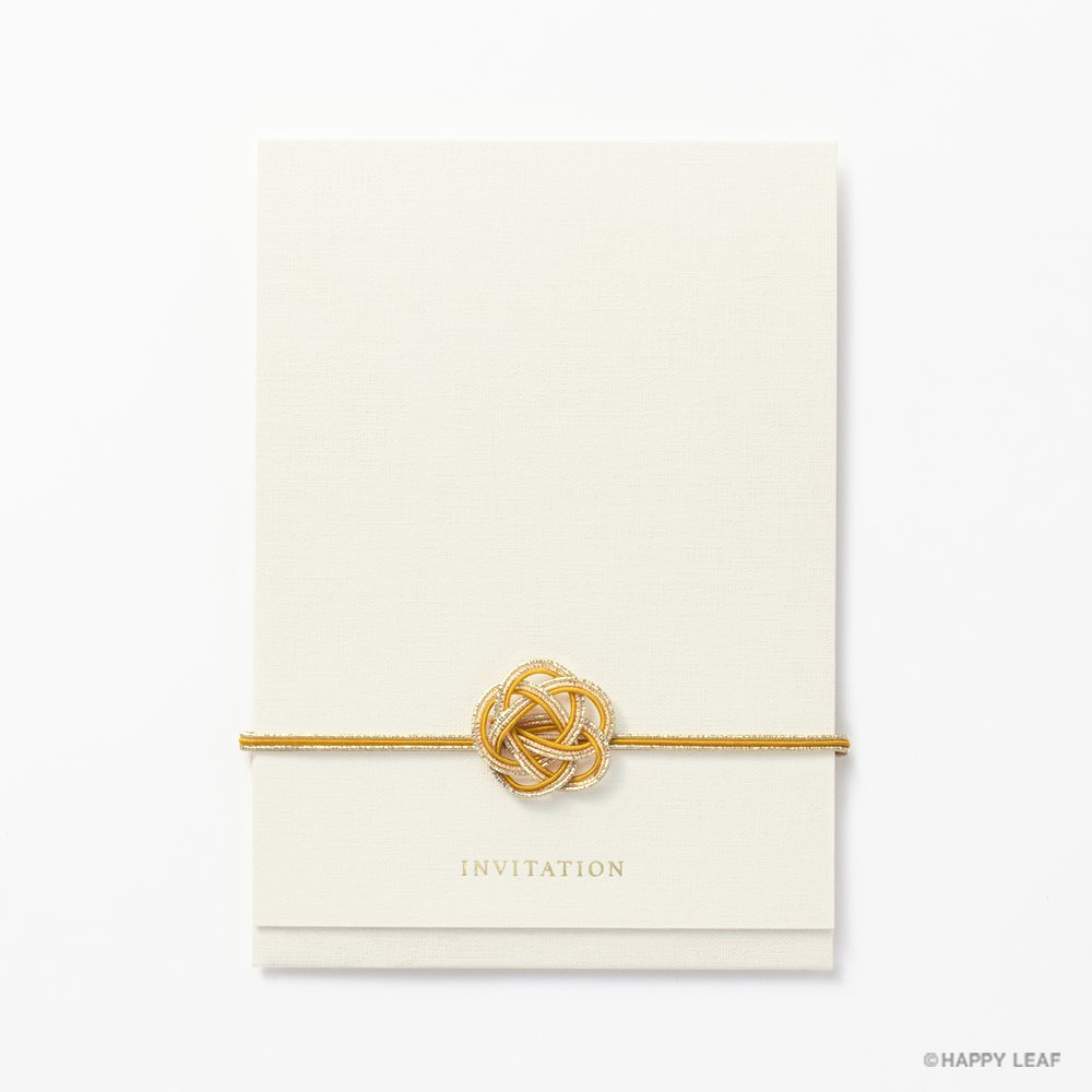 結婚式 招待状 musubi 黄 2