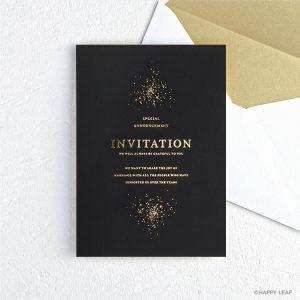 結婚式 招待状 Glanz ブラック