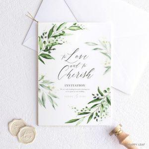 結婚式 招待状 grass