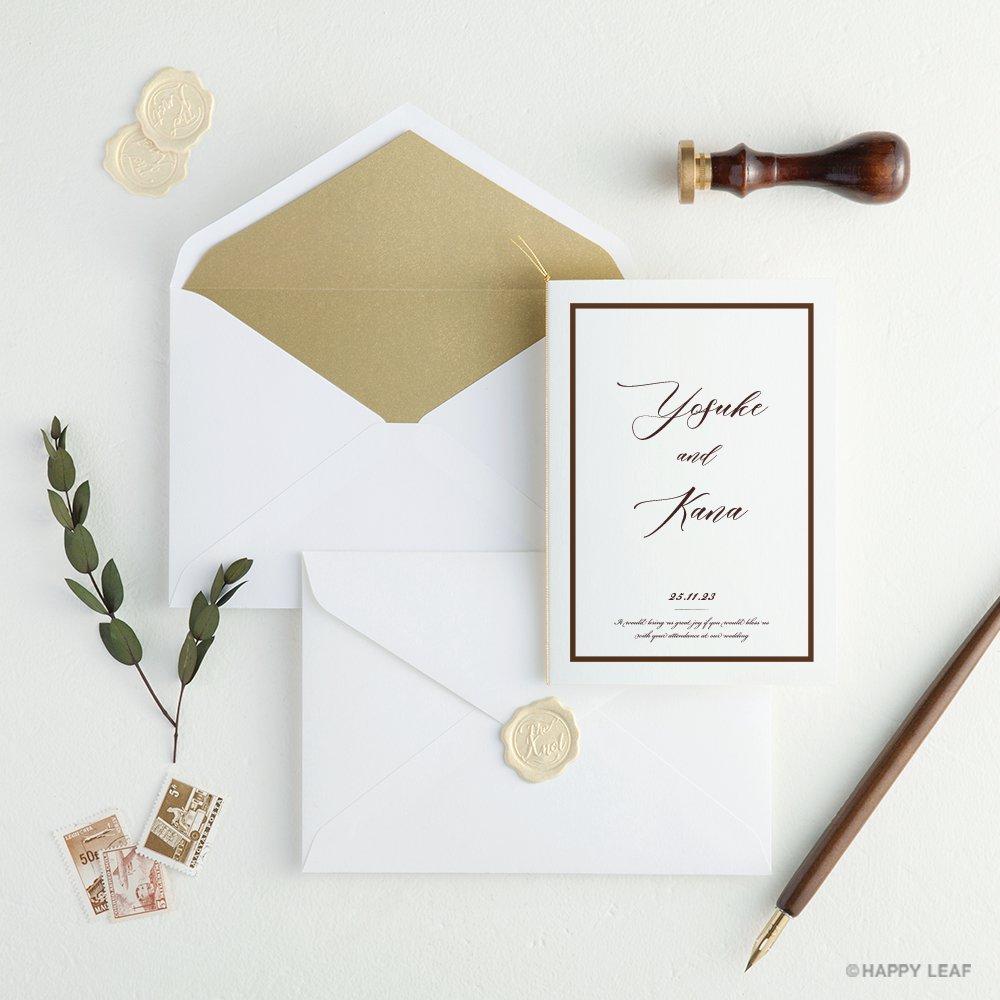結婚式 招待状 Oak ホワイト 10