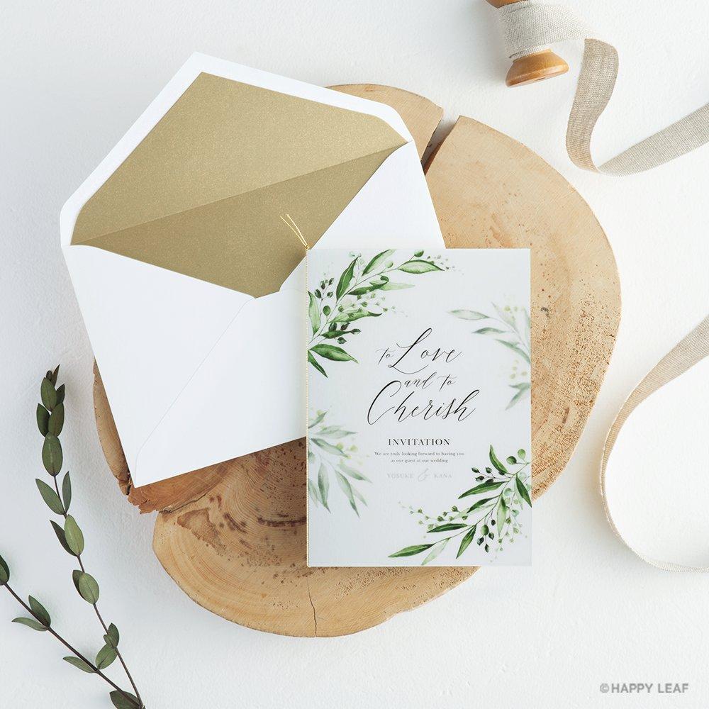 結婚式 招待状 grass 13