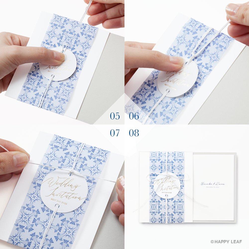 結婚式 招待状 Blau 12