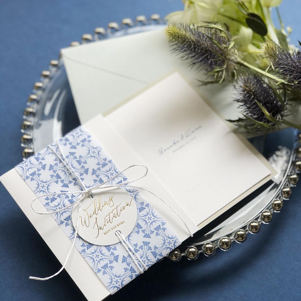 結婚式 招待状 Blau 1