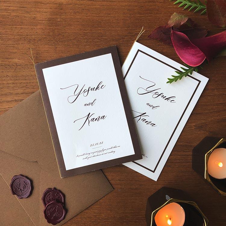 結婚式 招待状 Oak ブラウン イメージ