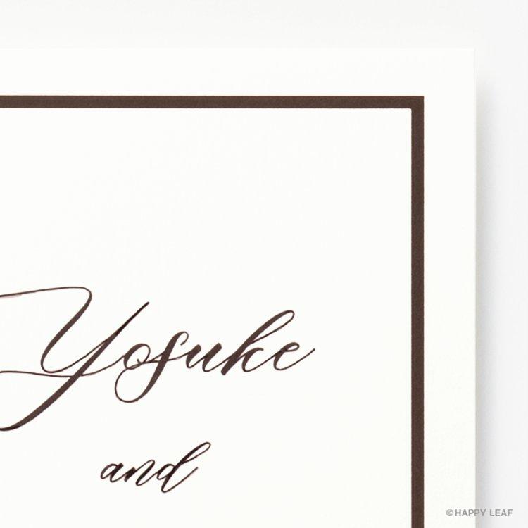 結婚式 招待状 Oak ホワイト イメージ