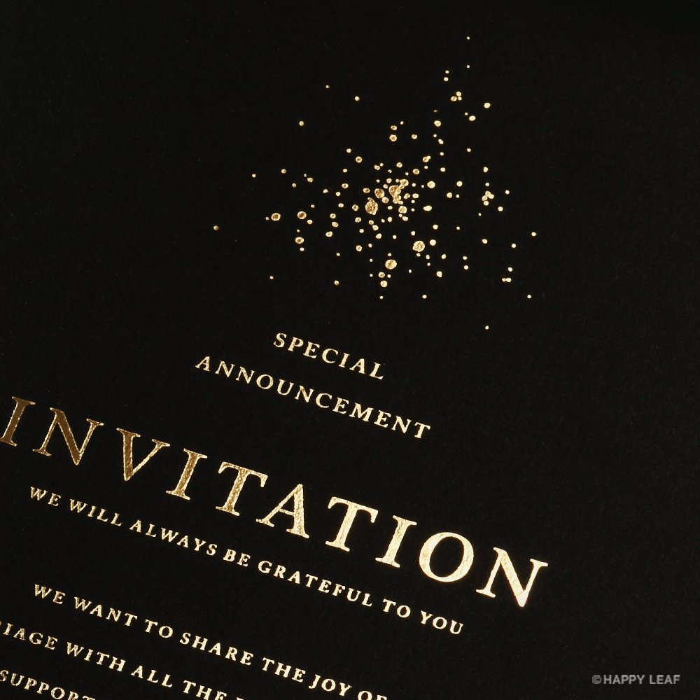 結婚式 招待状 Glanz ブラック 2