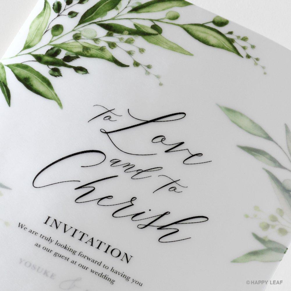 結婚式 招待状 grass 4