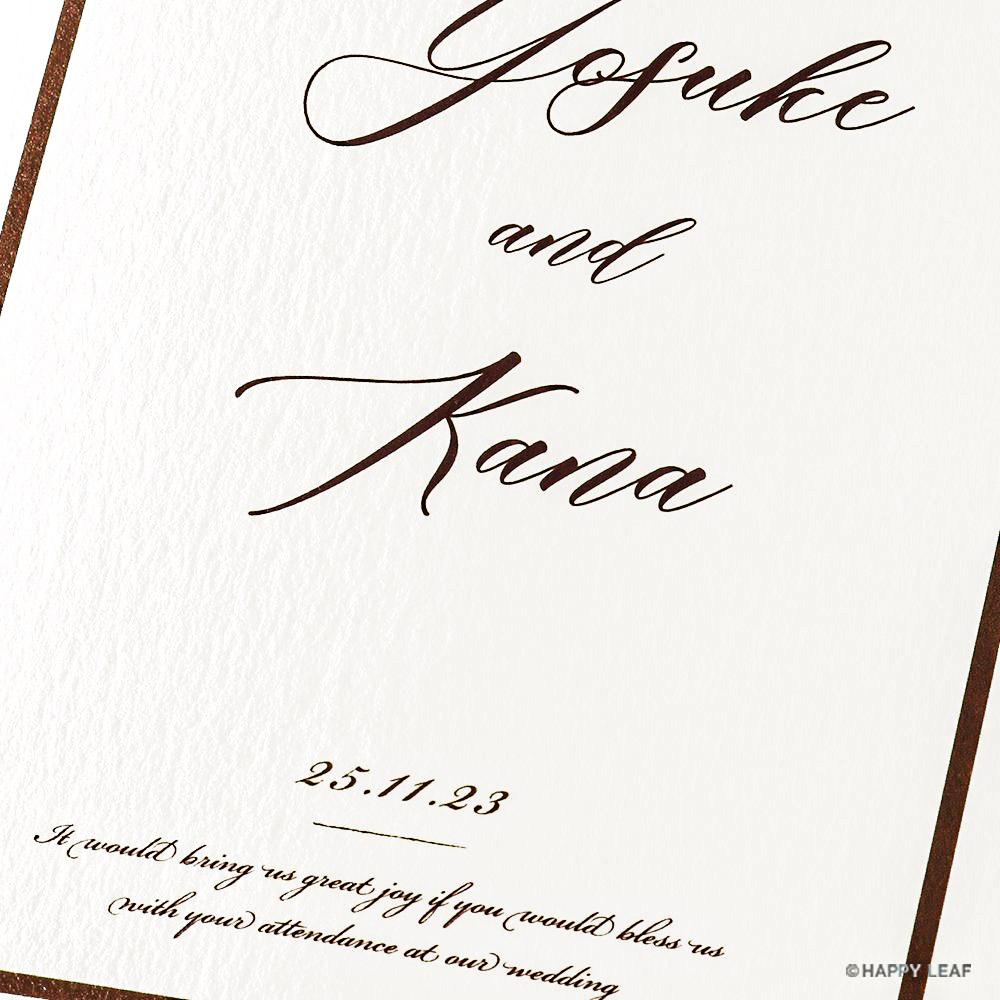 結婚式 招待状 Oak ホワイト 2