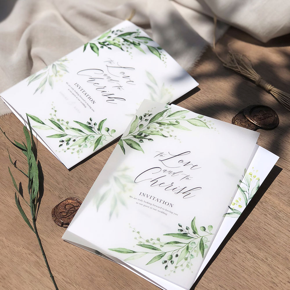 結婚式 招待状 grass 1