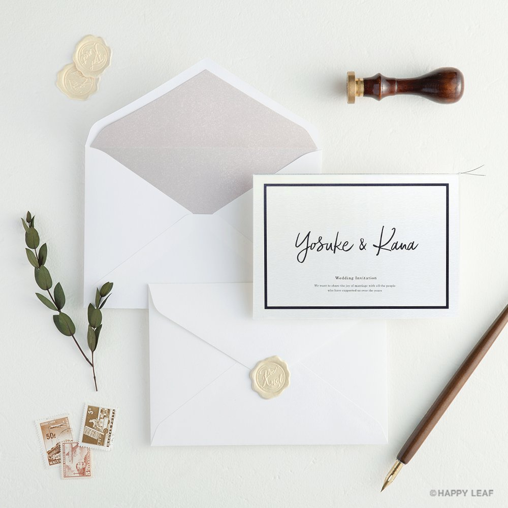 結婚式 招待状 Glassy ホワイト 10