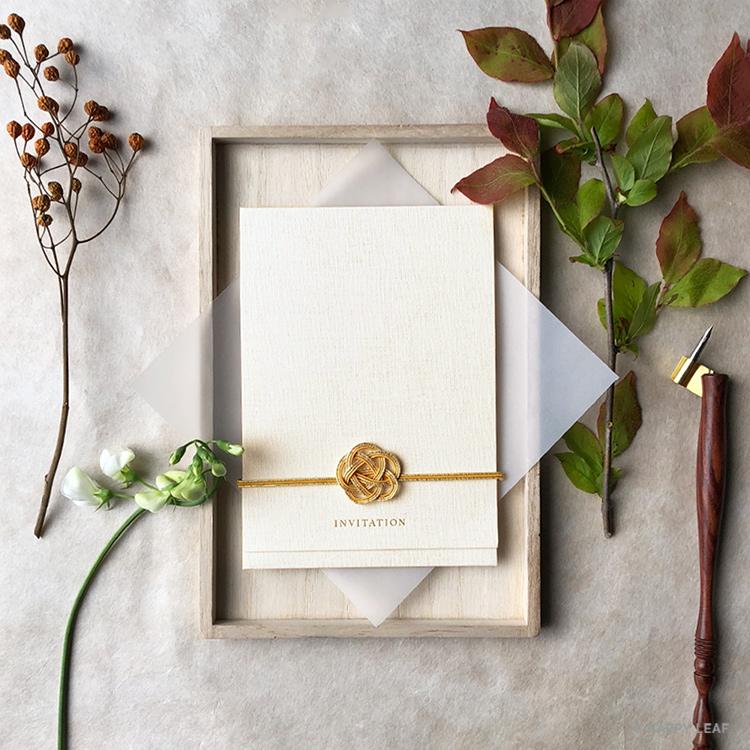 結婚式 招待状 musubi 黄 イメージ