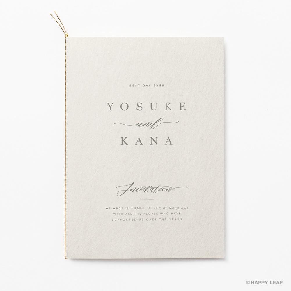 結婚式 招待状 soie ホワイト 2