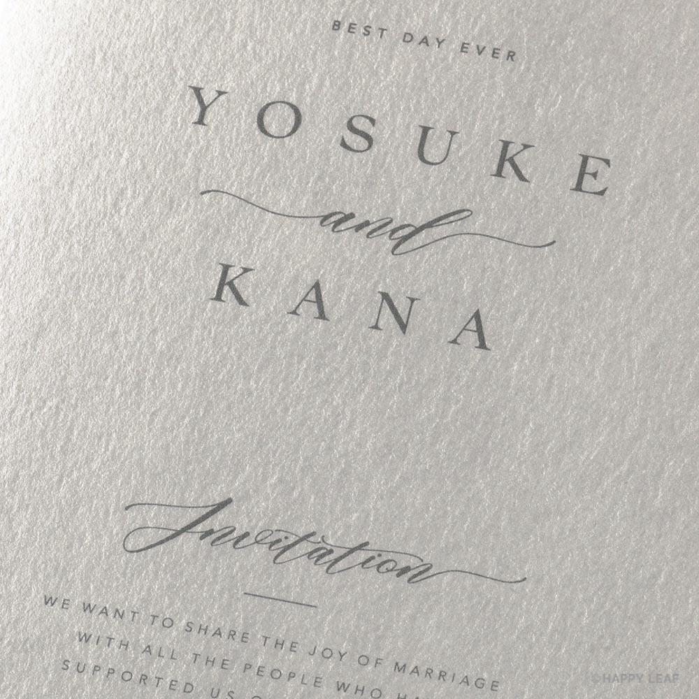 結婚式 招待状 soie ホワイト 3