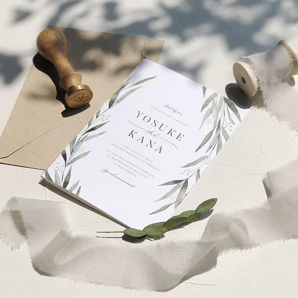 ナチュラルシックな大人婚を叶える 新作招待状6種リリース!宛名印刷込みで250円〜!