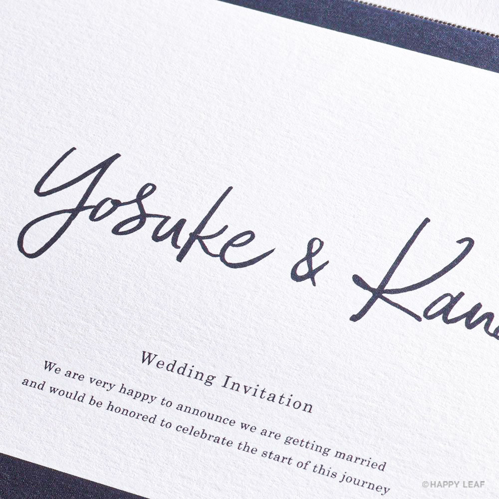 結婚式 招待状 Glassy ネイビー 3