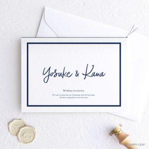 結婚式 招待状 Glassy ホワイト
